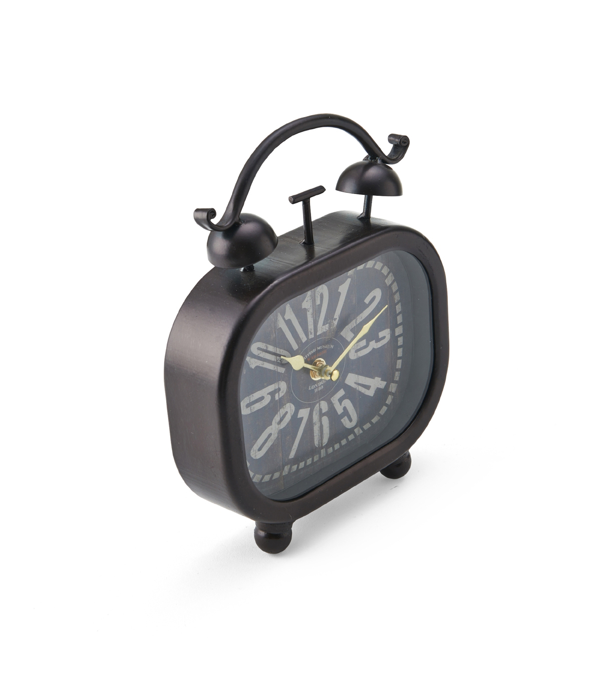 Metal Table Clock with Alarm 8\u0027\u0027x10\u0027\u0027-Black