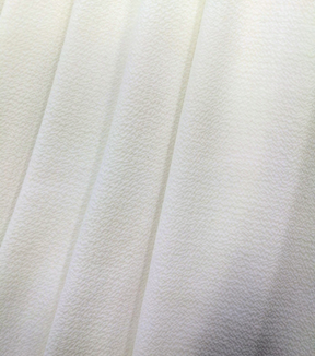 Simply Silky Solid Bubble Chiffon Fabric 57\u0022-White
