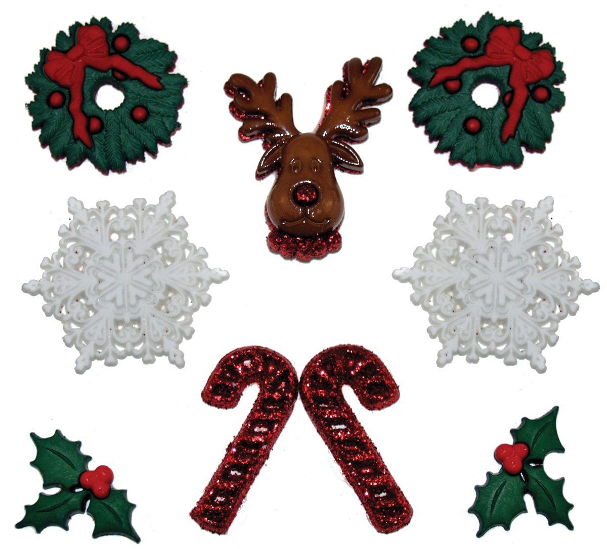 Dress It Up Holiday Embellishments-Deck The Halls