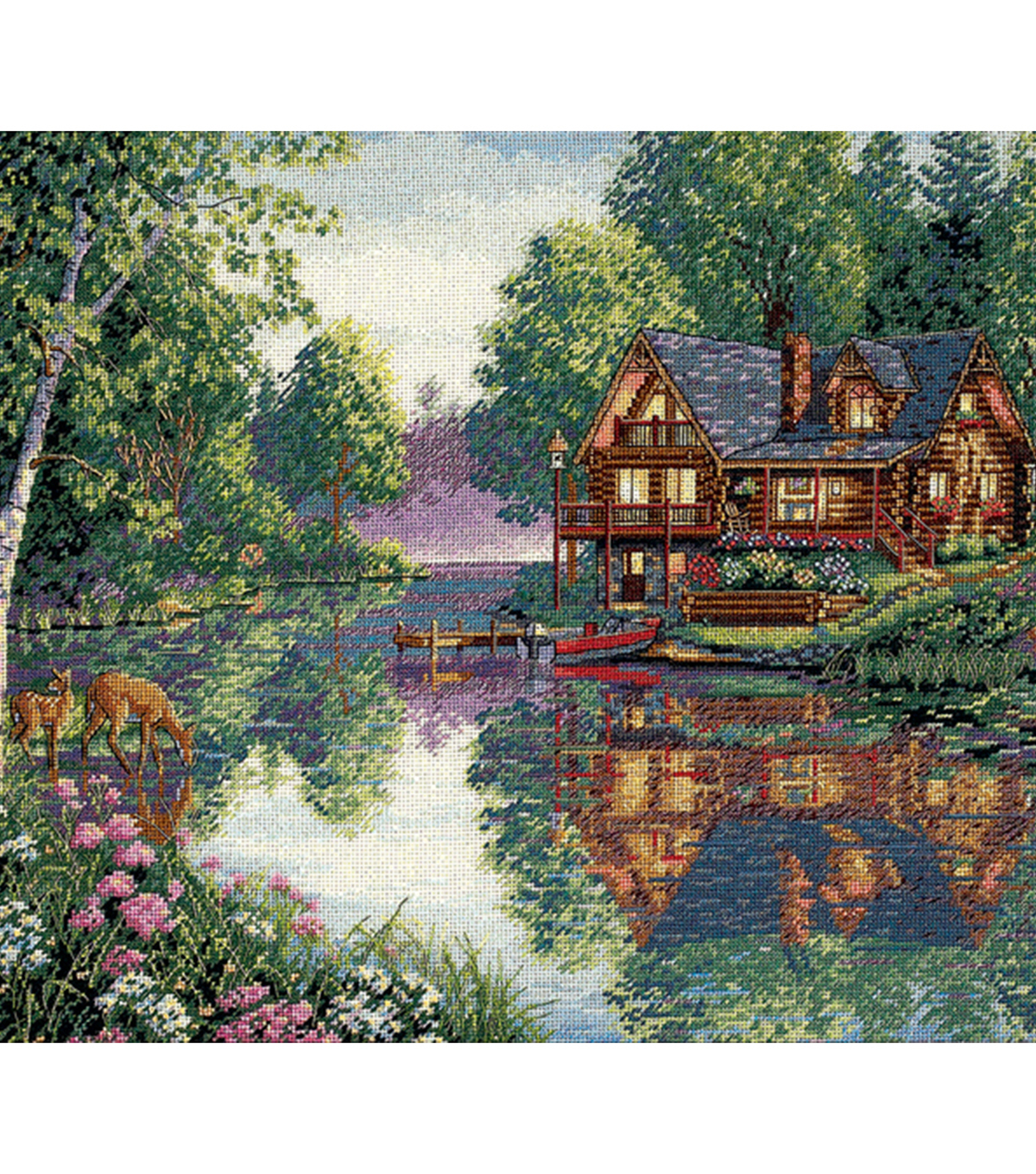 Gold Collection Cabin Fever Counted Cross Stitch Kit 18 Count