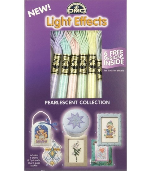 DMC Light Effects Metallic Floss Packs-Pearlescent
