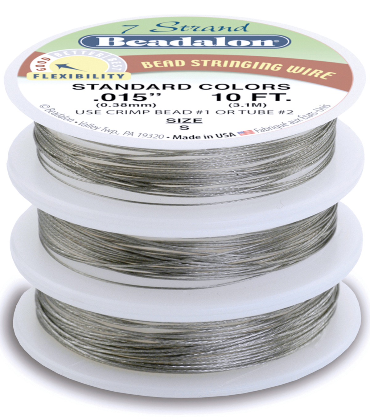 Stringing Wire 7-Strand Variety Pack 10ft 3/Pkg-Brilliant