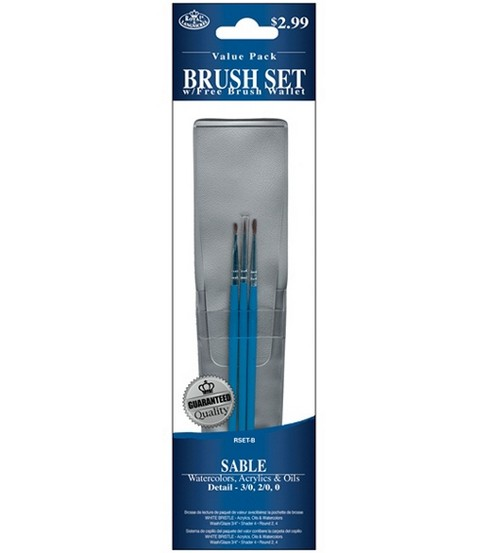 Value Pack Brush Sets-Sable Detail