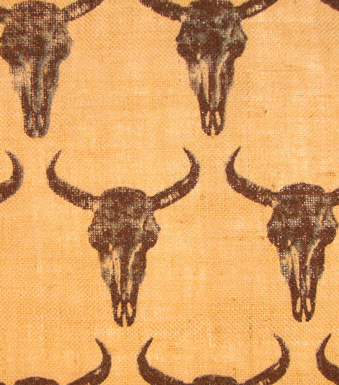 Steer Skull On Burlap | JOANN