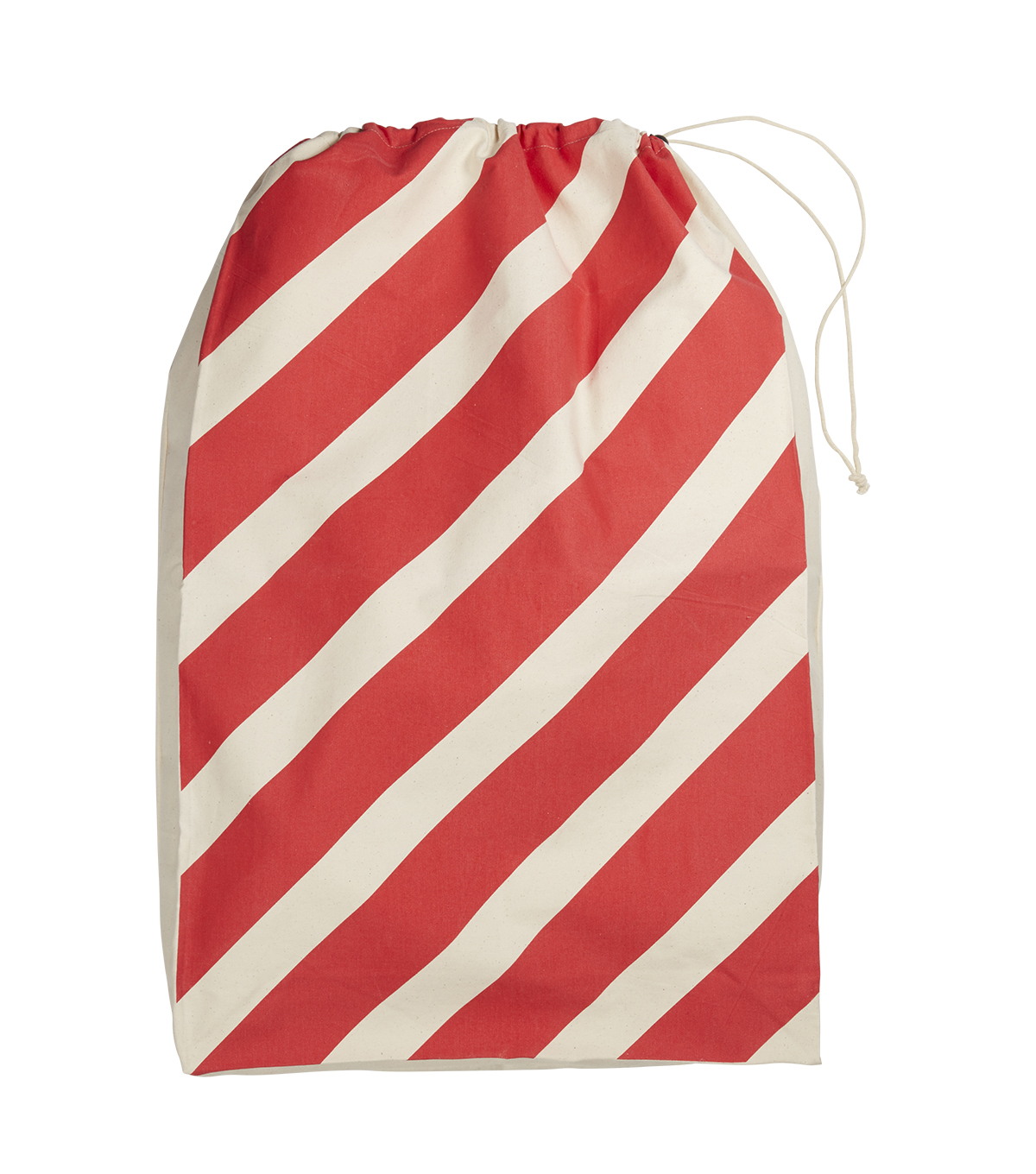 Maker\u0027s Holiday Christmas Jumbo Santa Canvas Bag-Candy Cane
