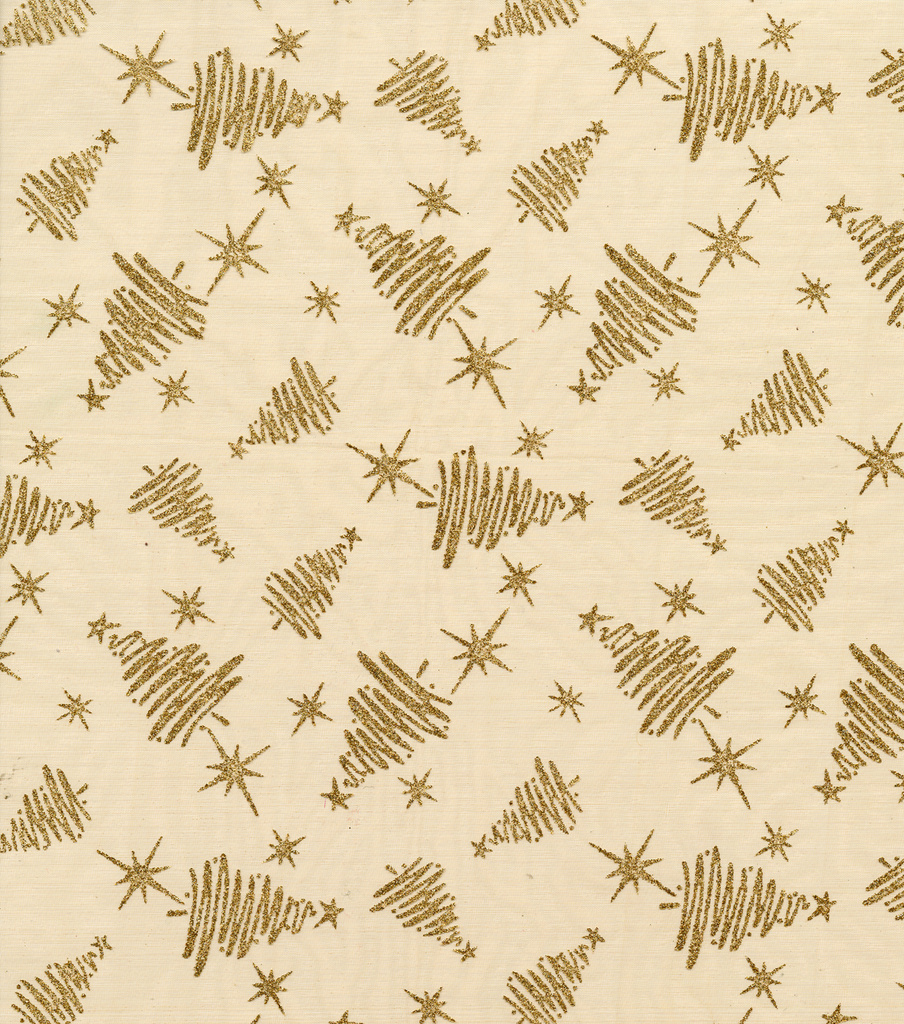 Glitterbug Organza Fabric 58\u0022-Gold Tress