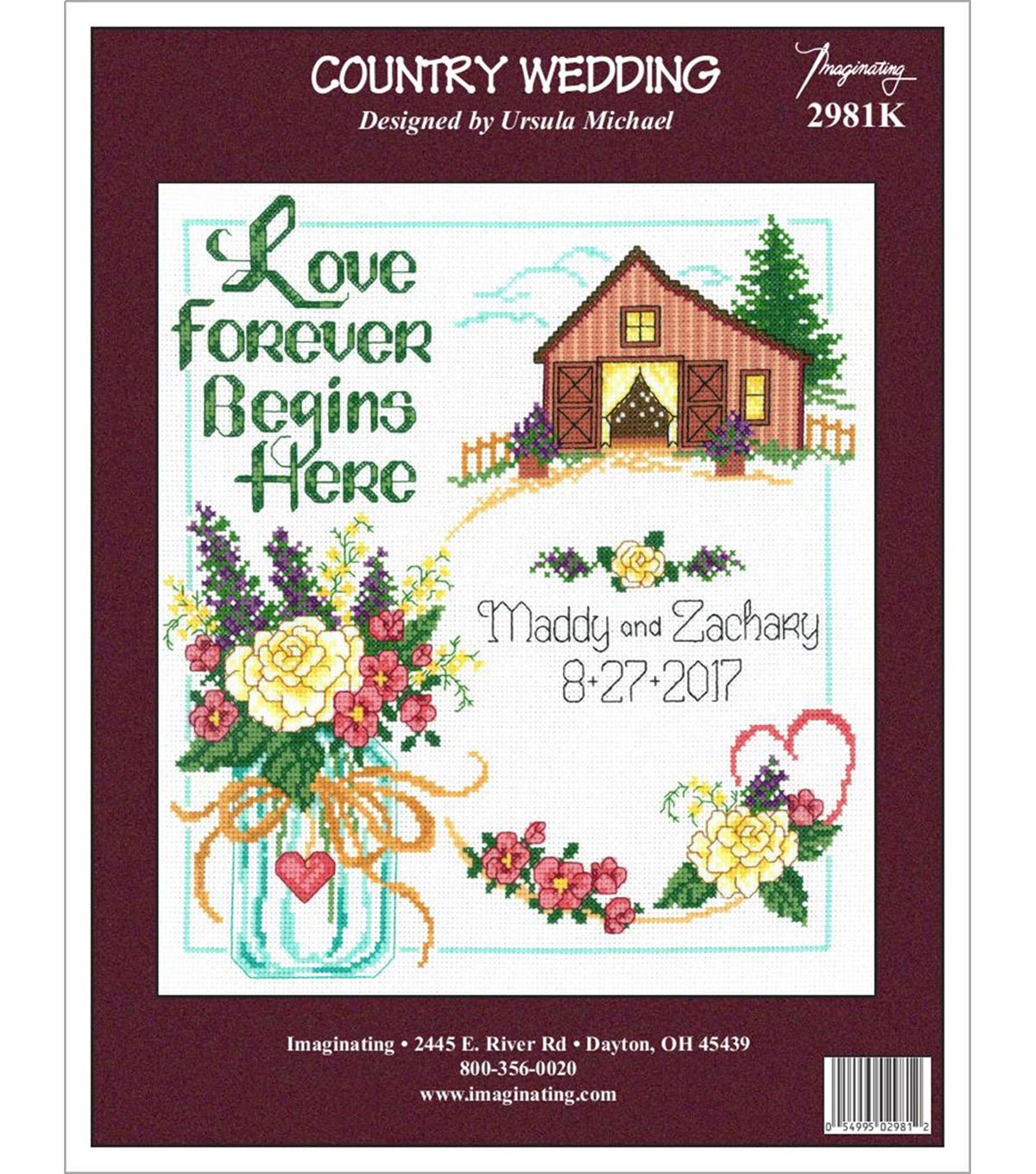 Country Wedding Counted Cross Stitch Kit 14 Count