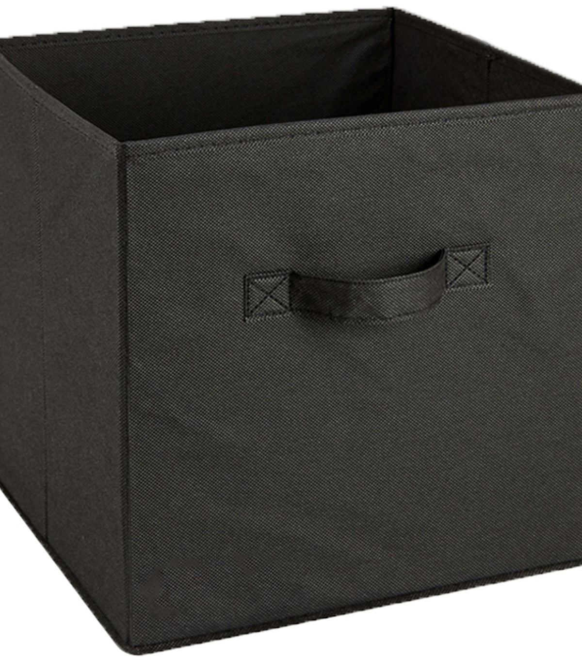 Square Fabric Storage Cube 10.5\u0022X10.5\u0022X11\u0022 Black
