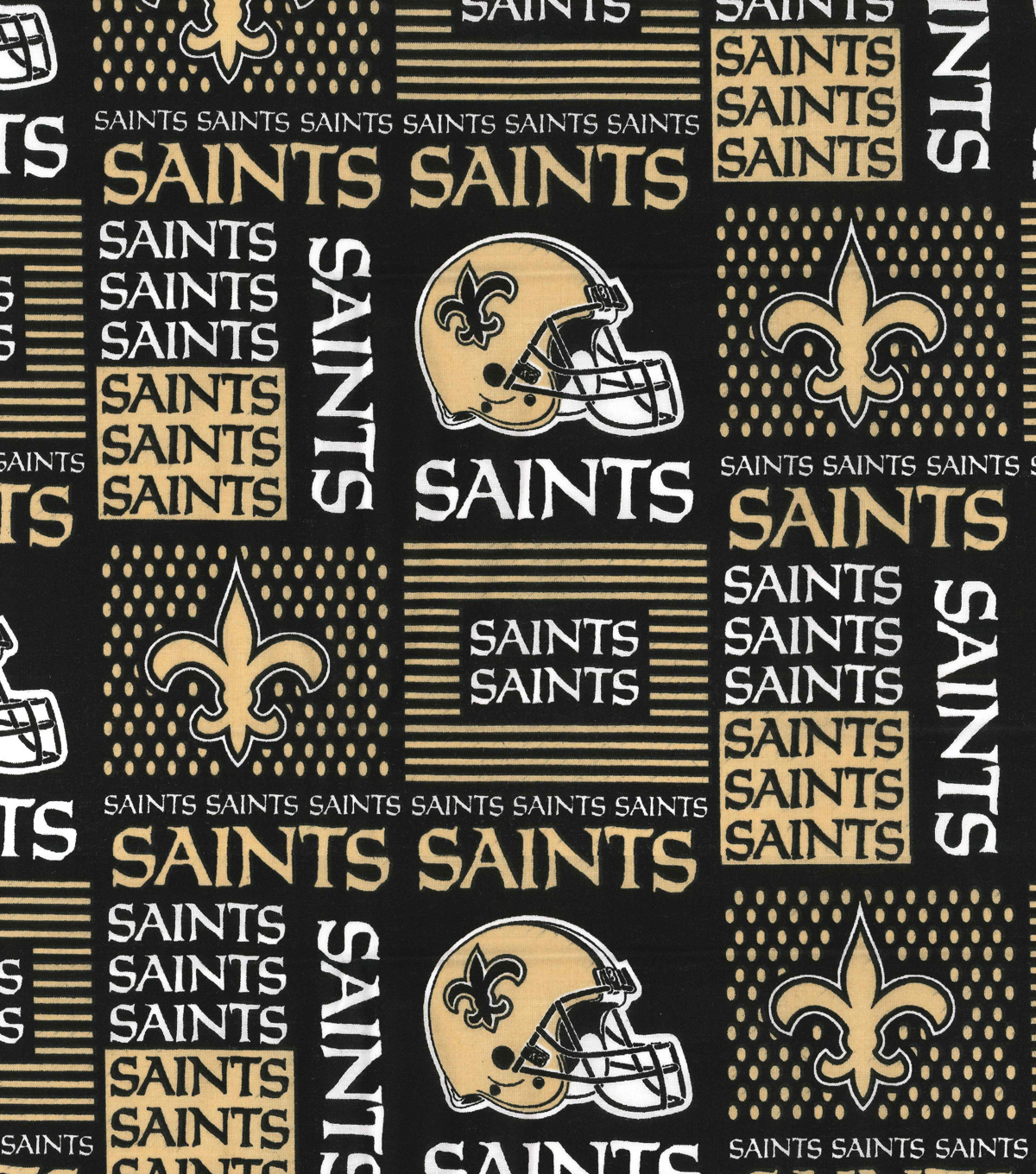 New Orleans Saints Cotton Fabric 58\u0022-Patch