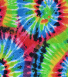 "Anti-Pill Fleece Fabric 59""-Swirly Tie Dye"
