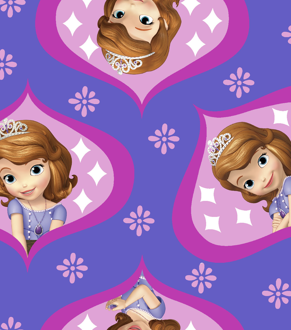 Disney® Sofia The First Fleece Fabric 59\u0022-Ogee