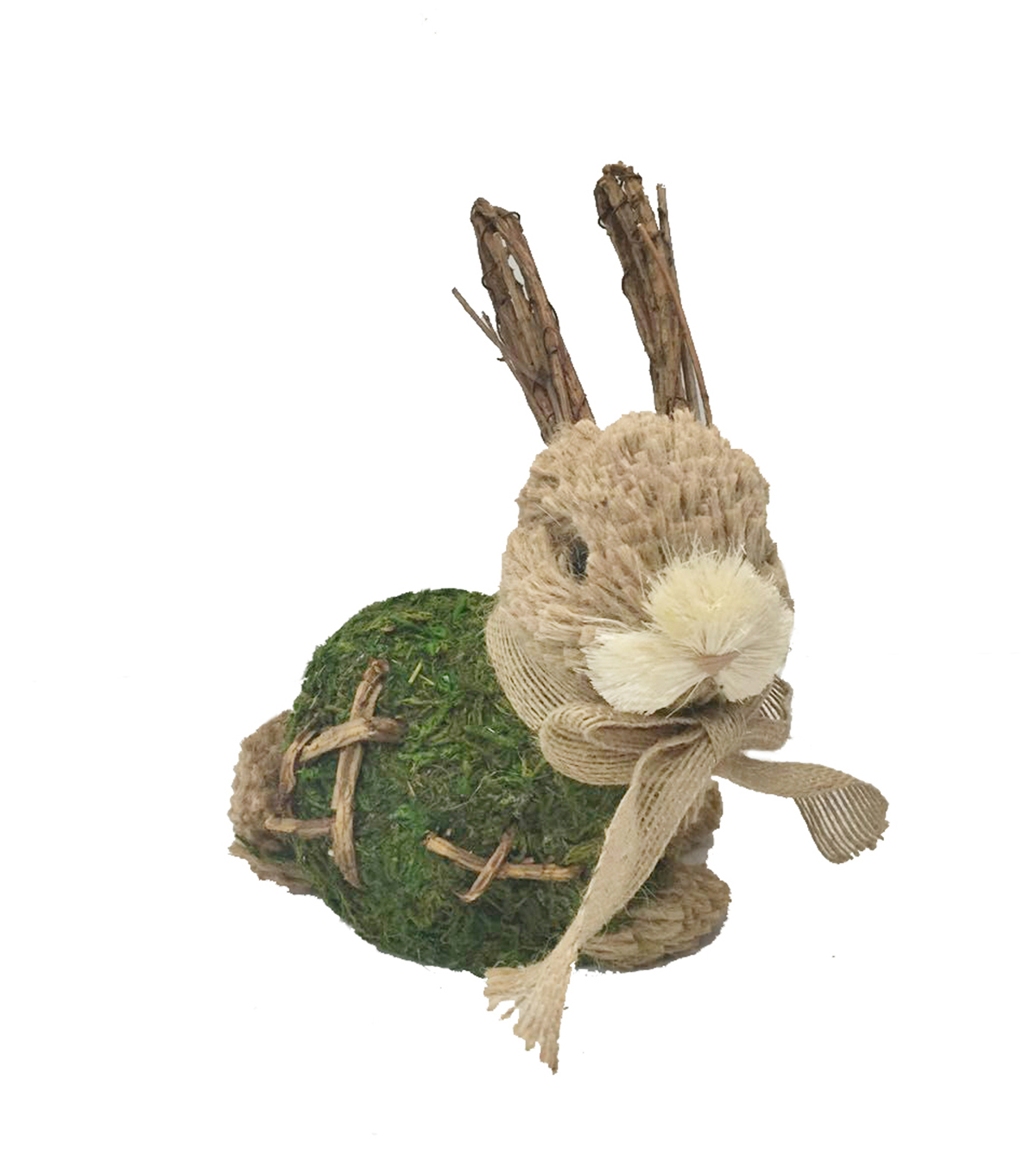 Blooming Spring Easter Sitting Moss Rabbit