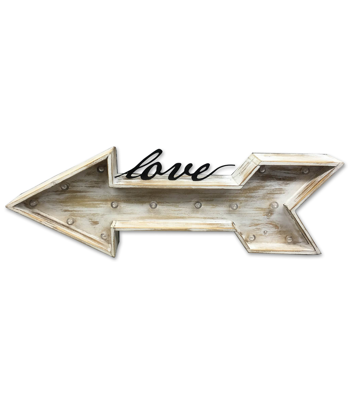 Save The Date™ Wood Marquee LED Arrow-Love
