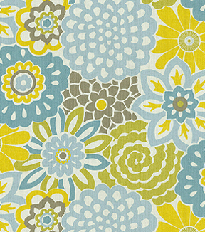 Waverly Upholstery Fabric 54\u0022-Button Blooms Spa