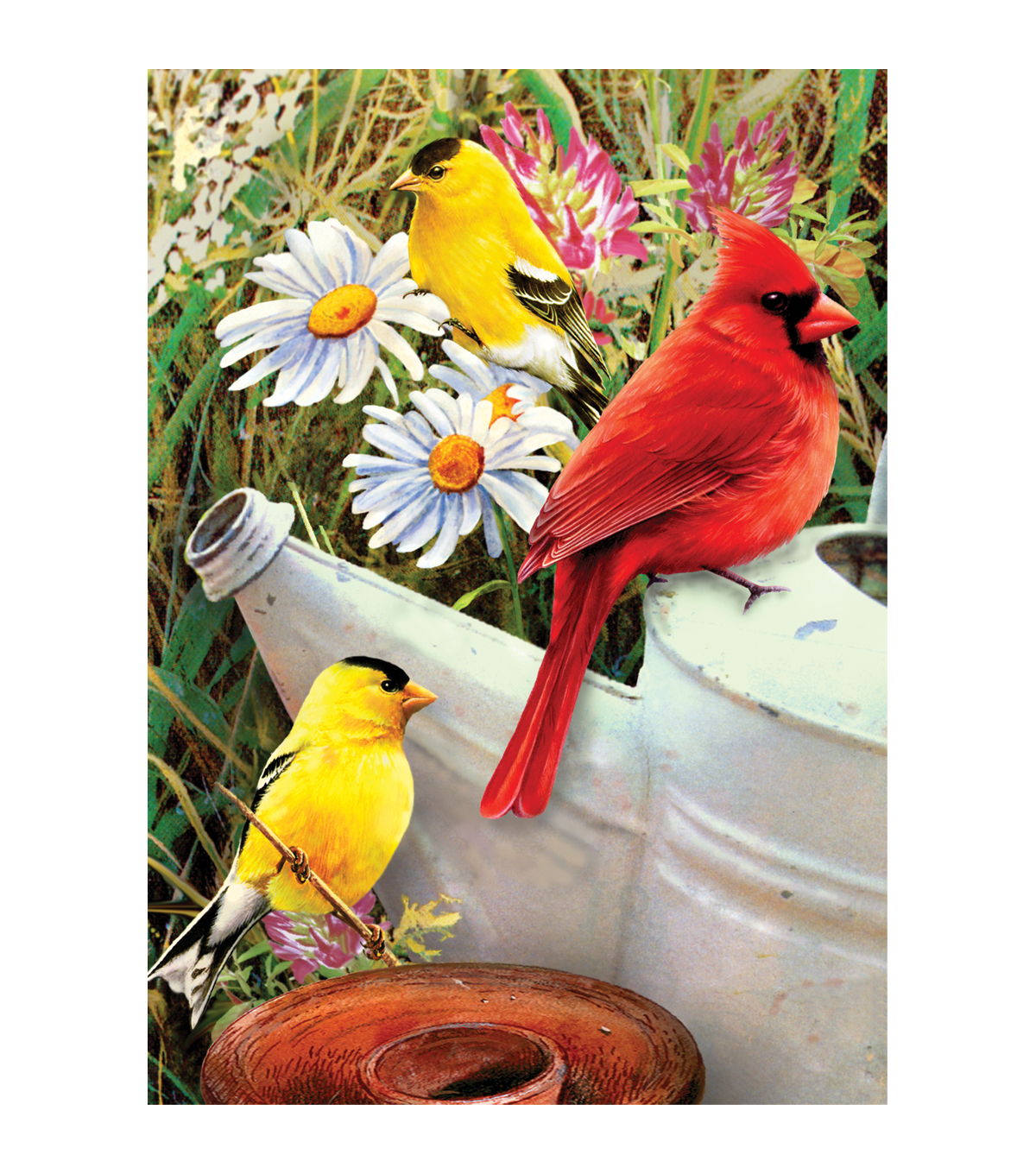 Royal Langnickel Garden Birds Mini Paint By Number Kit