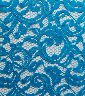 Casa Collection™ Lace Fabric 55\u0022-Floral Scroll Blue Jewel