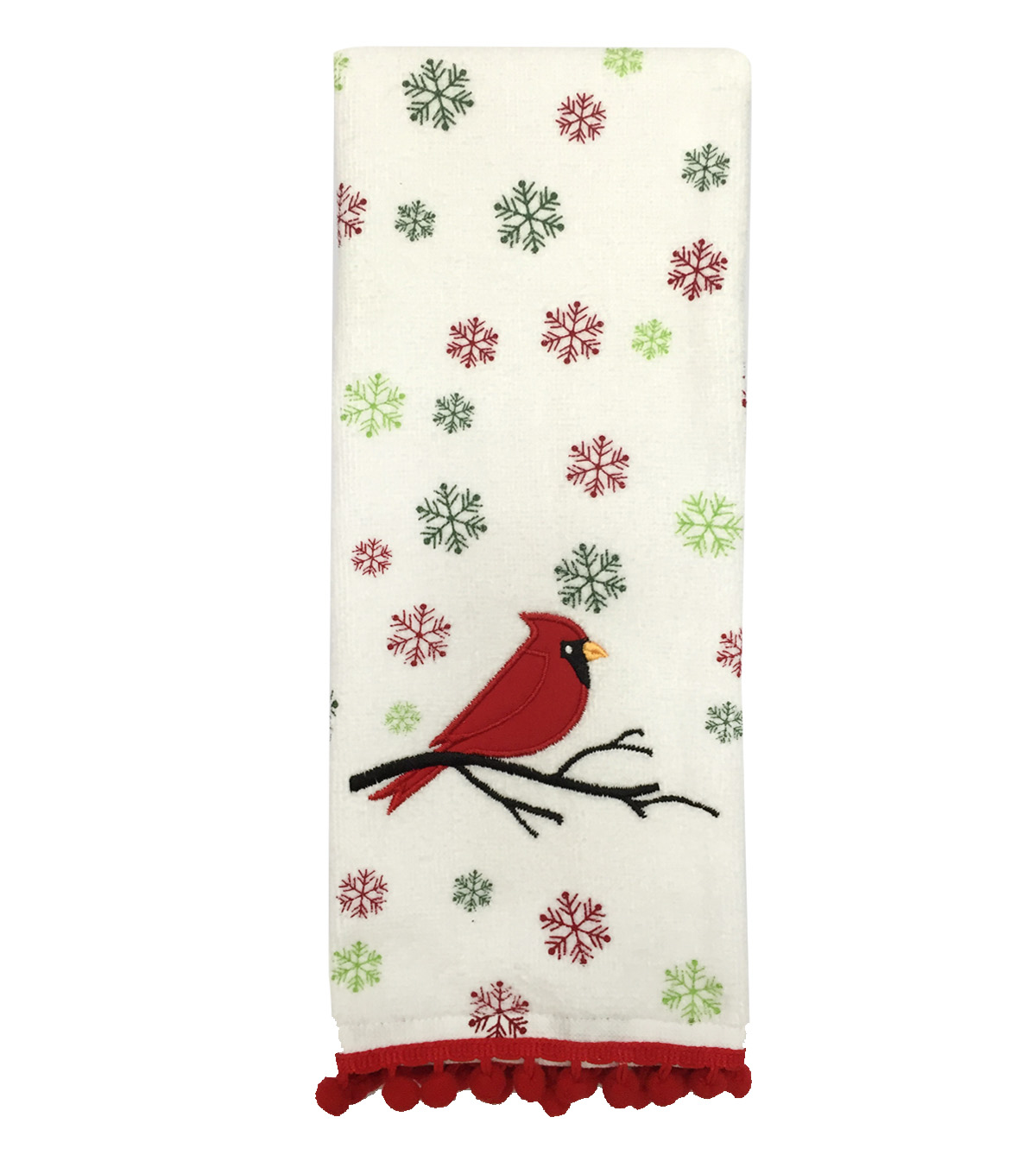 Maker\u0027s Holiday Terry Towel-Cardinal Snowflake