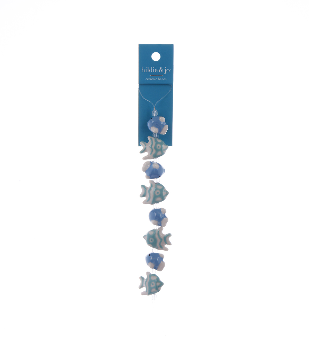 Bliss Beads Blue Ceramic Fish Mix