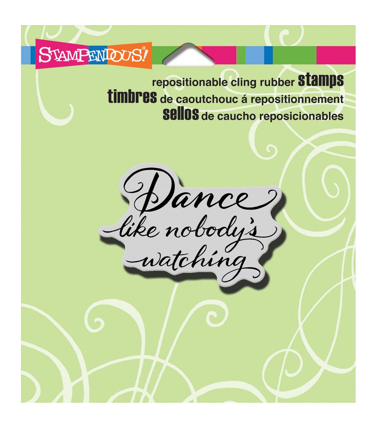 Stampendous Cling Rubber Stamp 3.5\u0022X4\u0022 Sheet-Dance Like
