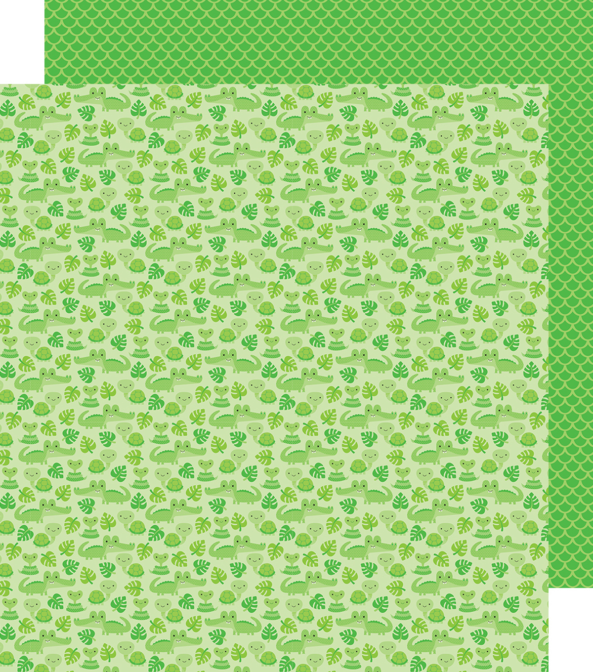 At The Zoo Double-Sided Cardstock 12\u0022X12\u0022-Later Alligator