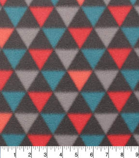 "Blizzard Fleece Fabric 59""-Marrakesh Broken Chevron Triangles"