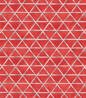 Asian Inspired Cotton Fabric 43\u0027\u0027-Bamboo Triangles on Red