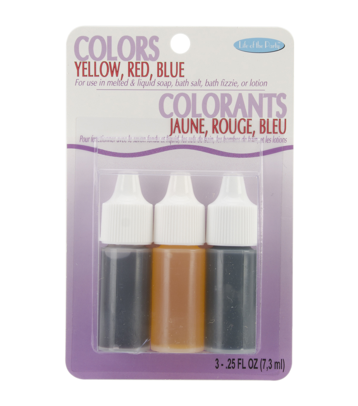 Colors .75oz 3/Pkg-Red, Yellow and Blue