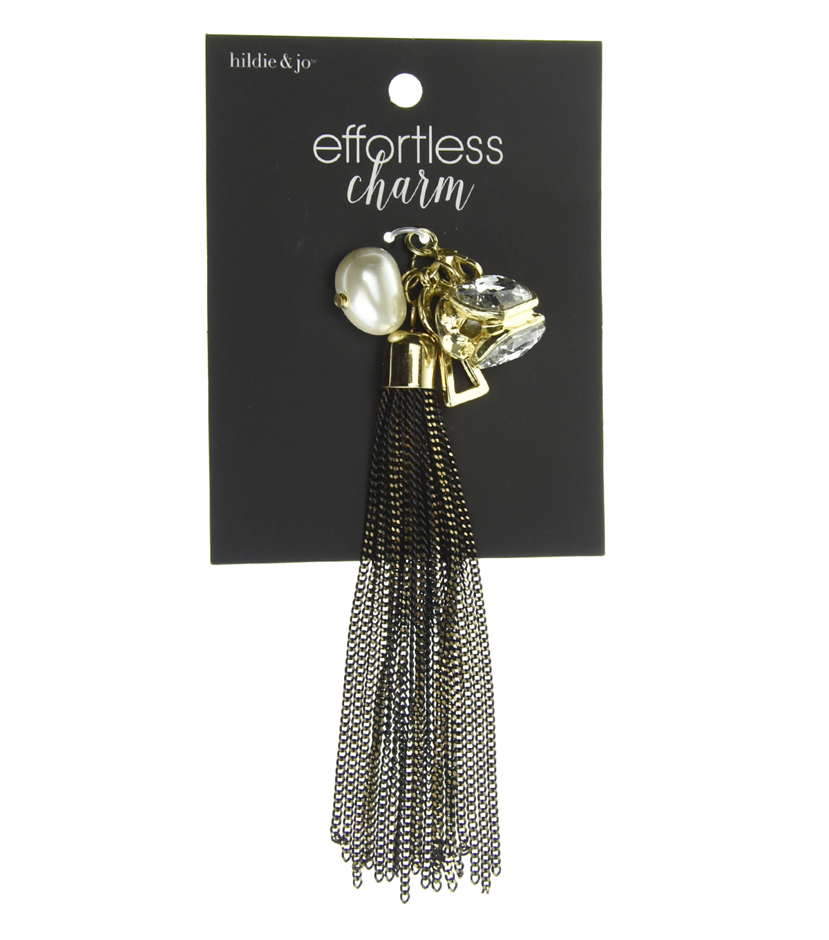 hildie & jo™ Effortless Charm Gold Metal Tassel-Pearl & Crystal