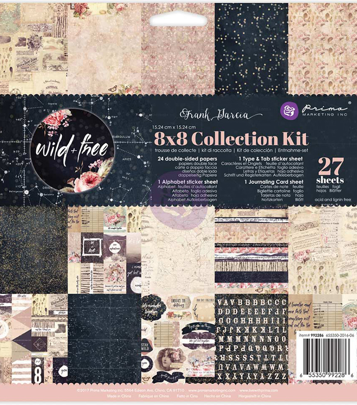 Prima Marketing Collection Kit 8\u0022X8\u0022-Frank Garcia Wild & Free