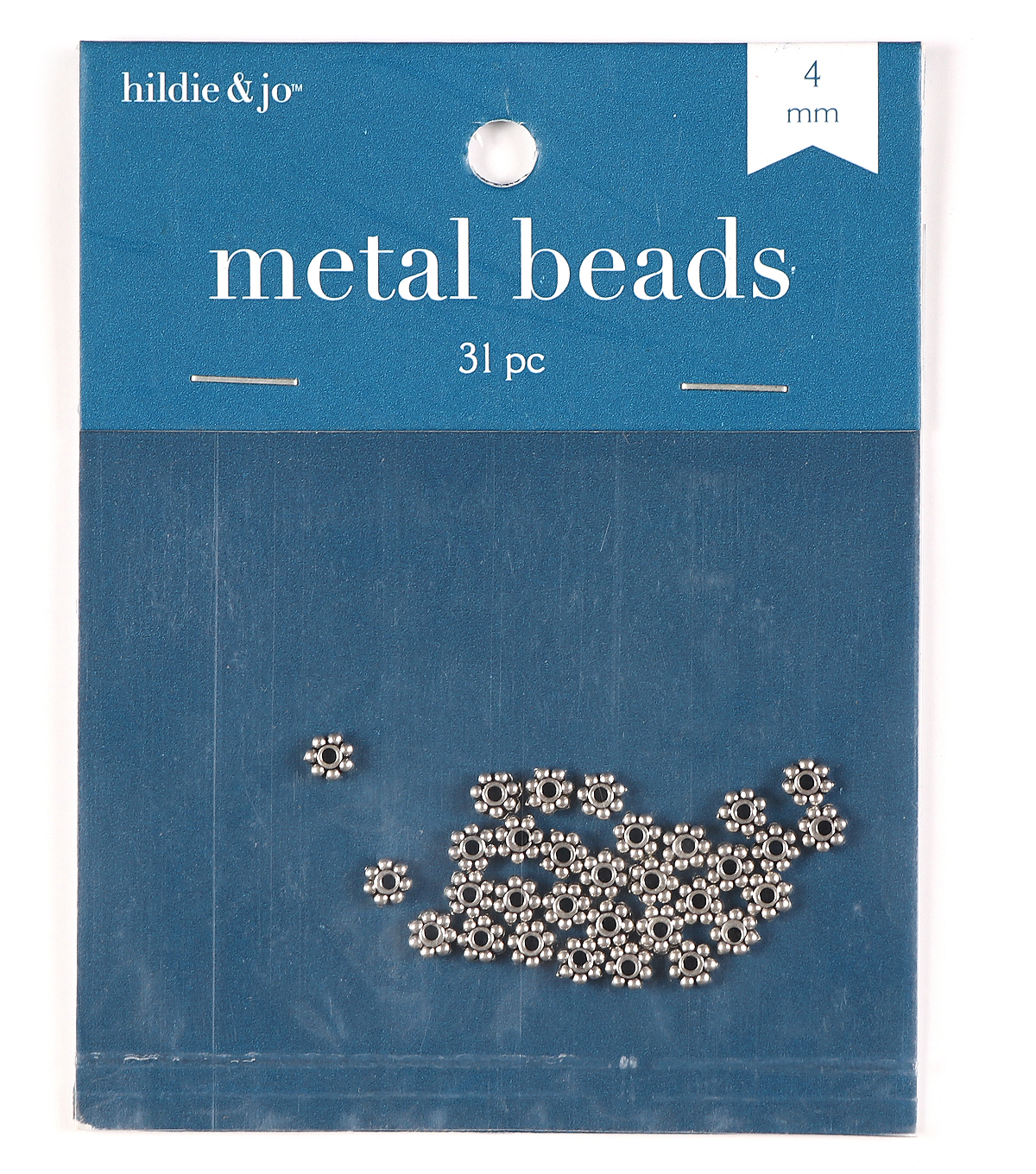 4mm Cast Metal Spacer Beads, Antique Silver