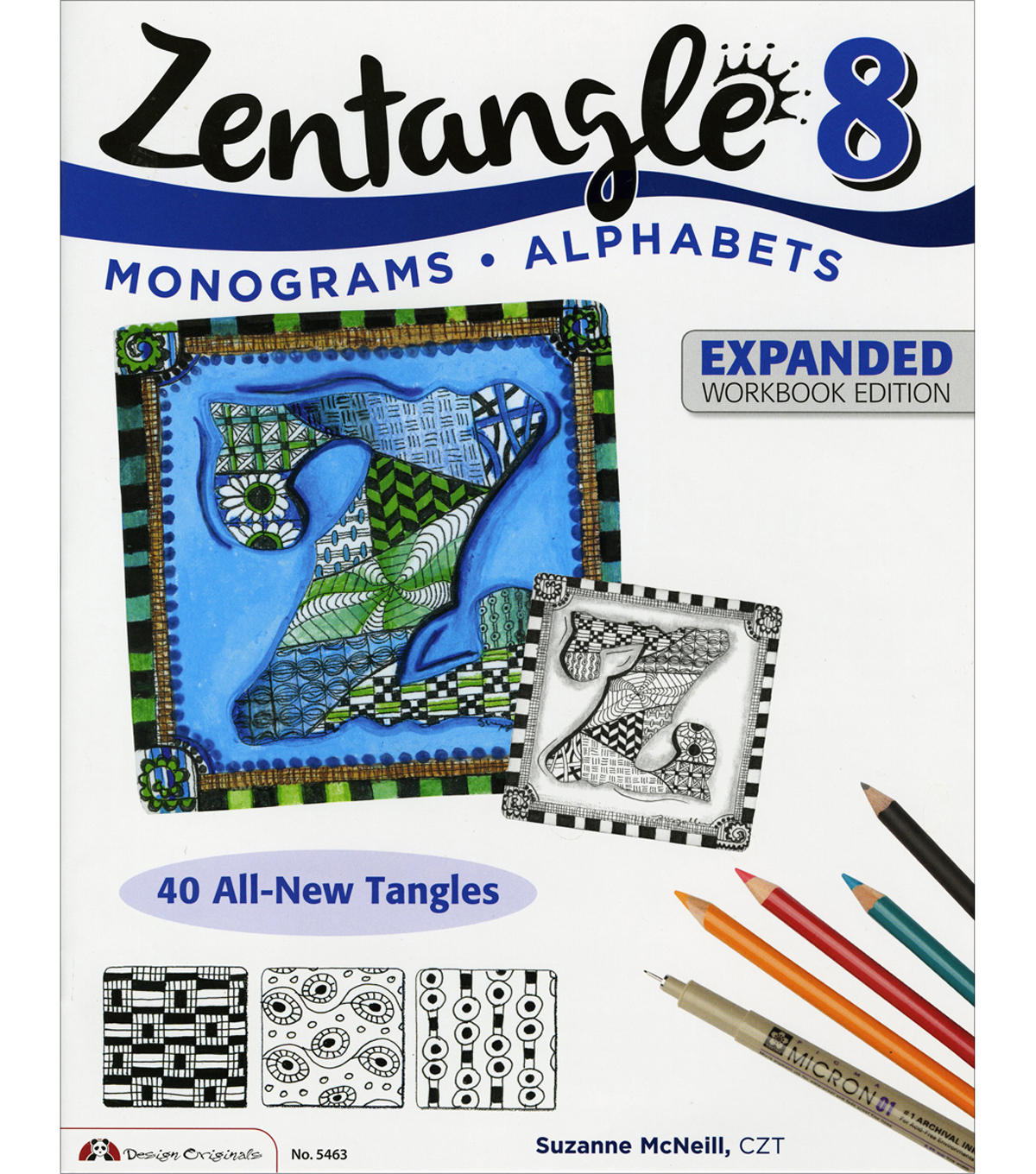 Adult Coloring Book-Design Originals Zentangle 8 Workbook Edition