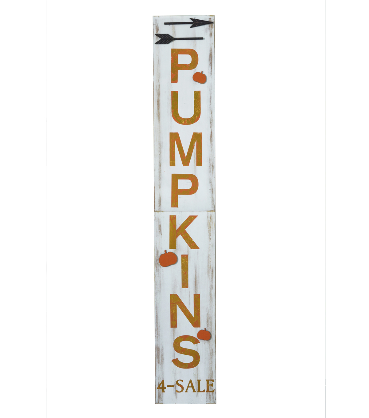 Fall Into Color Large Wood Porch Sign-Pumpkins 4-Sale