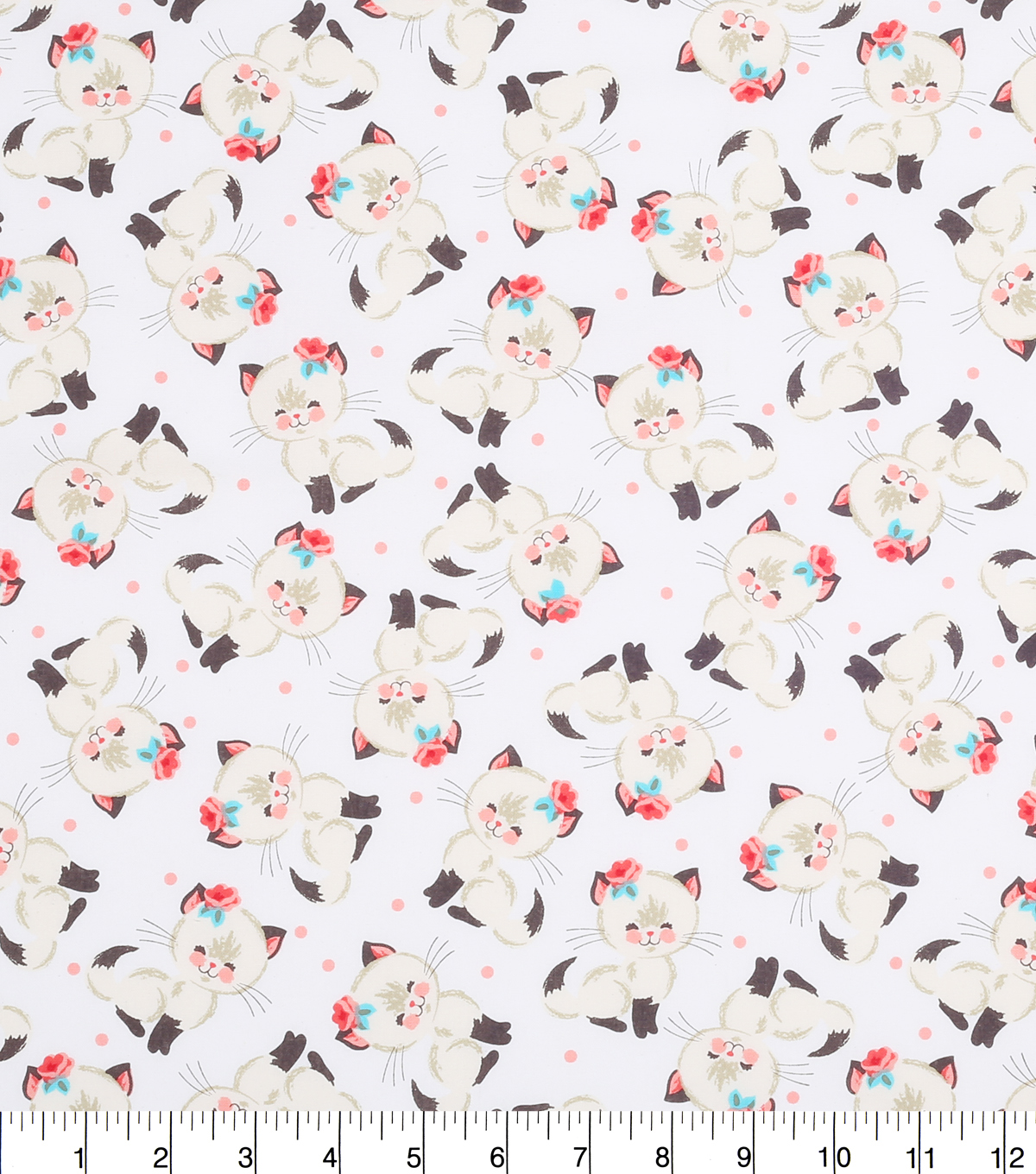 Novelty Cotton Fabric 43\u0022-Cutie Cats