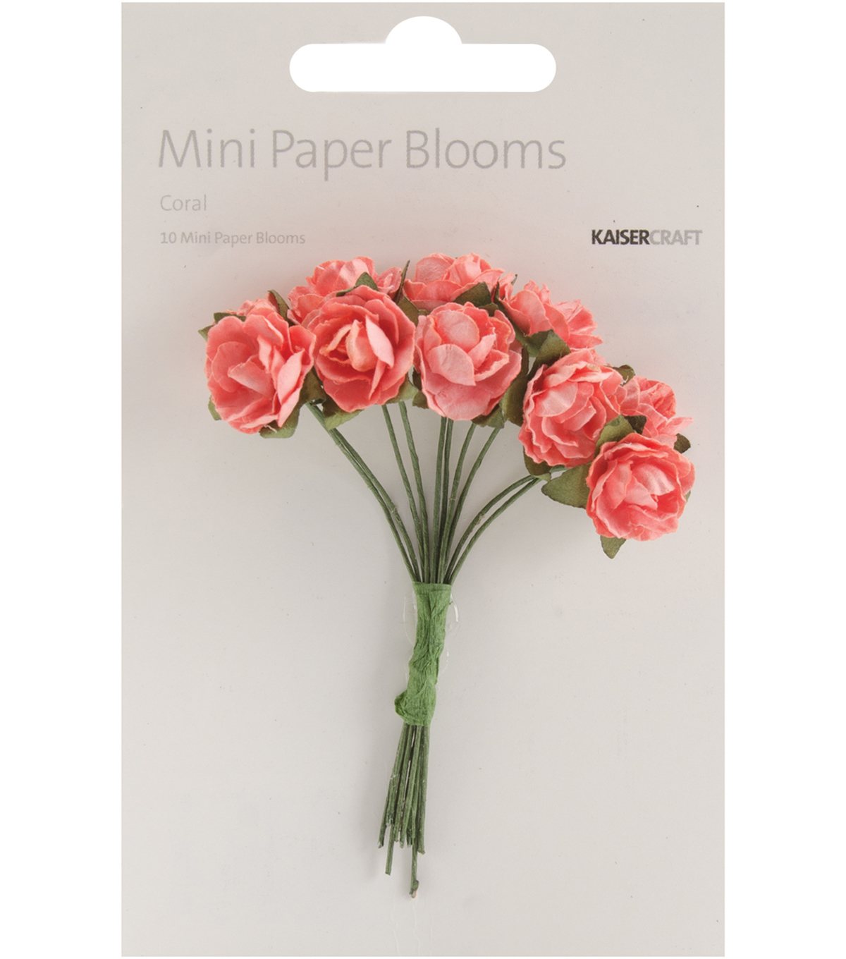 Fire Red -Mini Paper Blooms