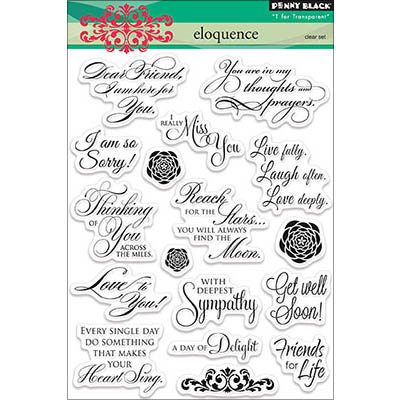 "Penny Black Clear Stamps 5""X7""-Eloquence"