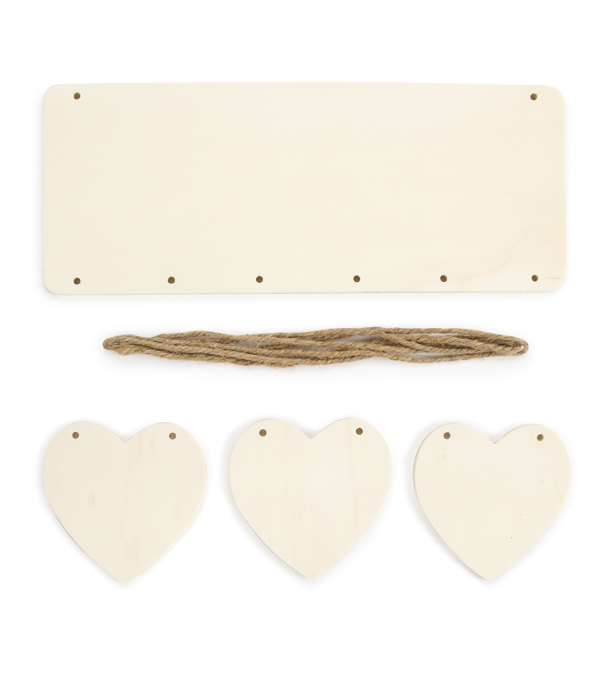 Hanging Plaque Kit - Rectangle with Hearts