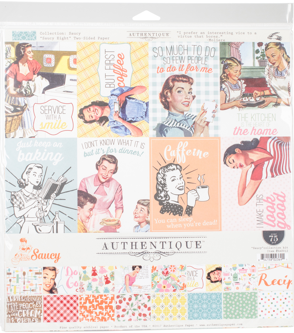 Authentique Collection Kit 12\u0022X12\u0022-Saucy