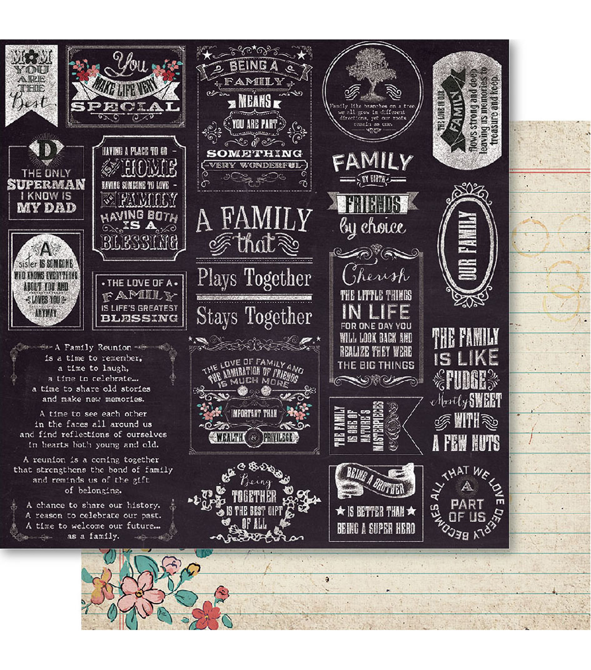 Bella! Family Double-Sided Cardstock-Together