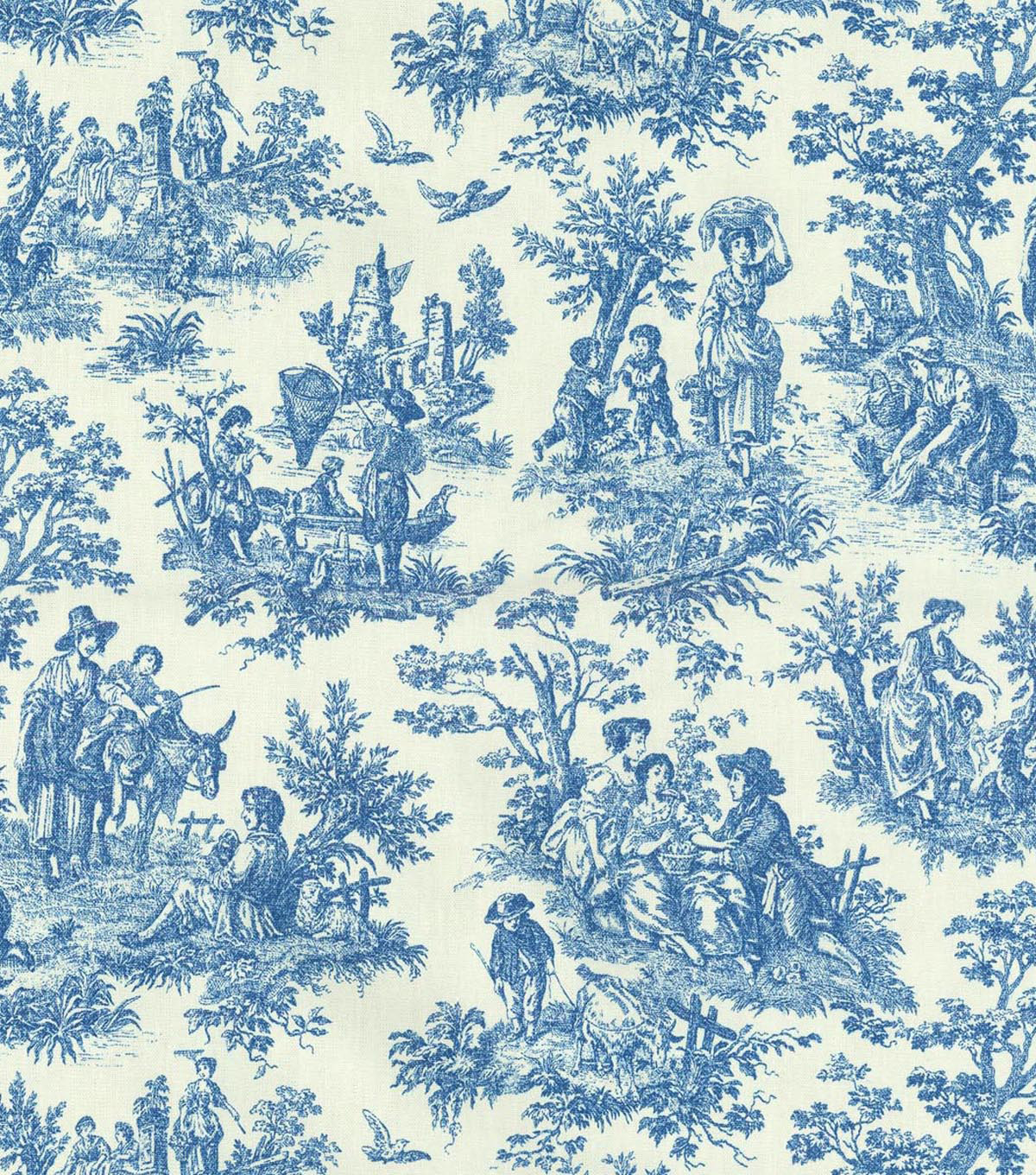 Waverly Upholstery Fabric 54\u0022-Charmed Life/Cornflower