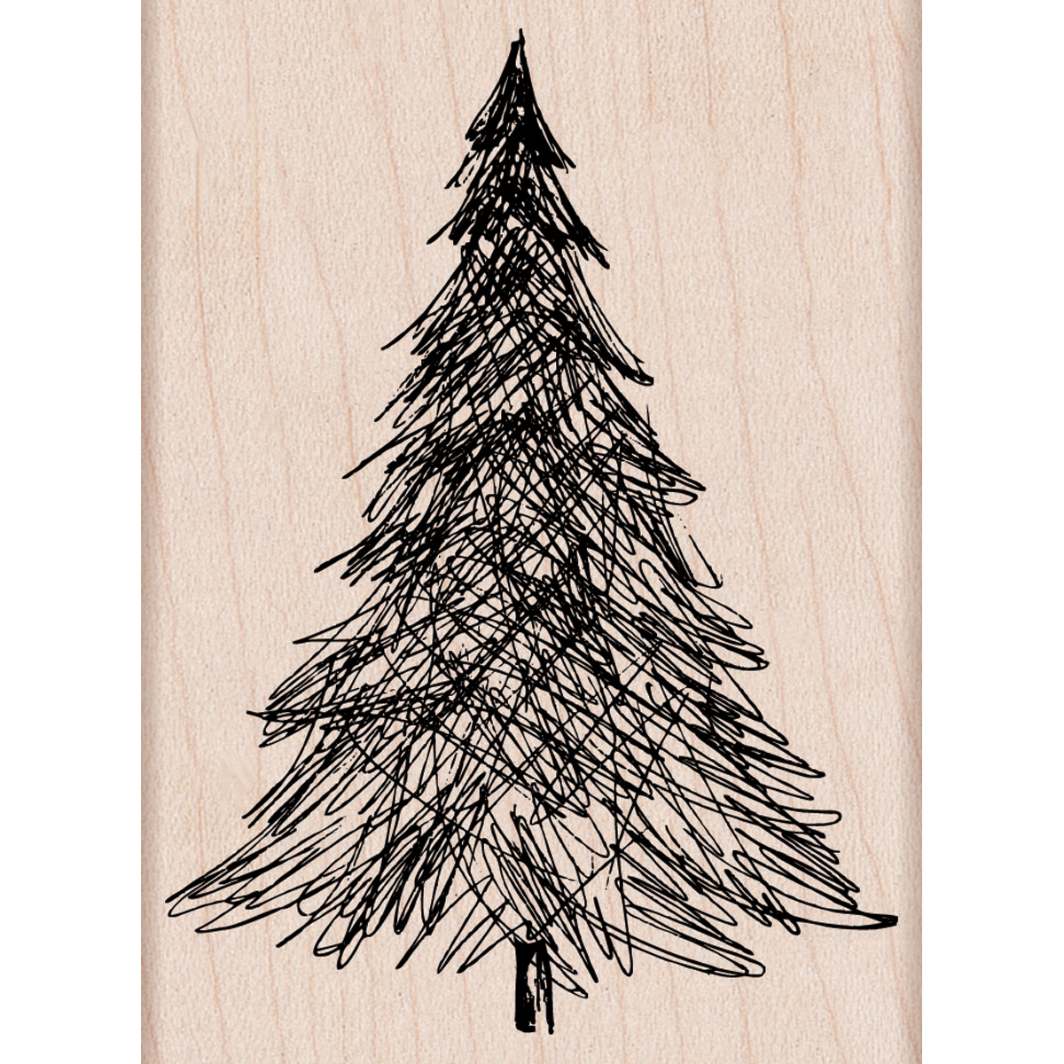 Hero Arts Mounted Rubber Stamps Pen & Ink Christmas Tree