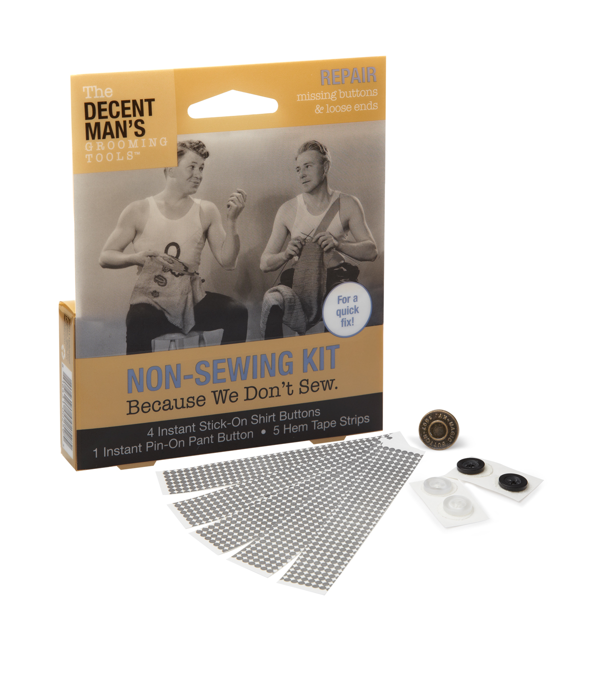 The Decent Man\u0027s Grooming Tools-Non Sewing Kit