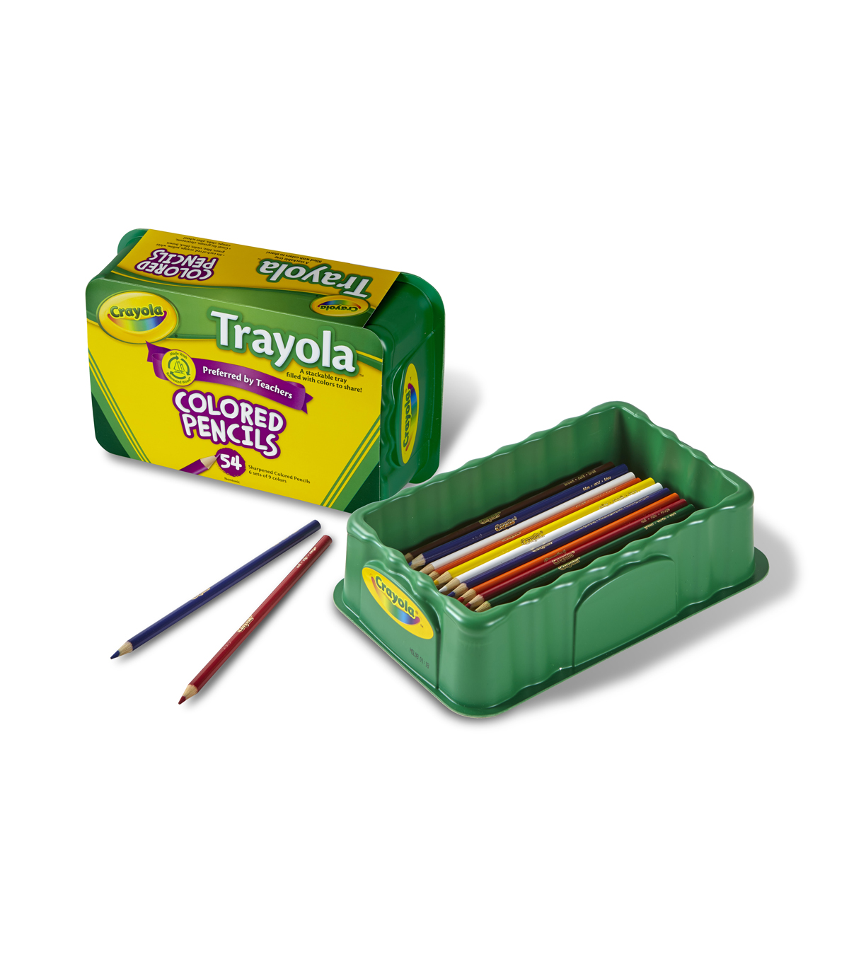 Busy Kids Learning Crayola Trayola Colored Pencils