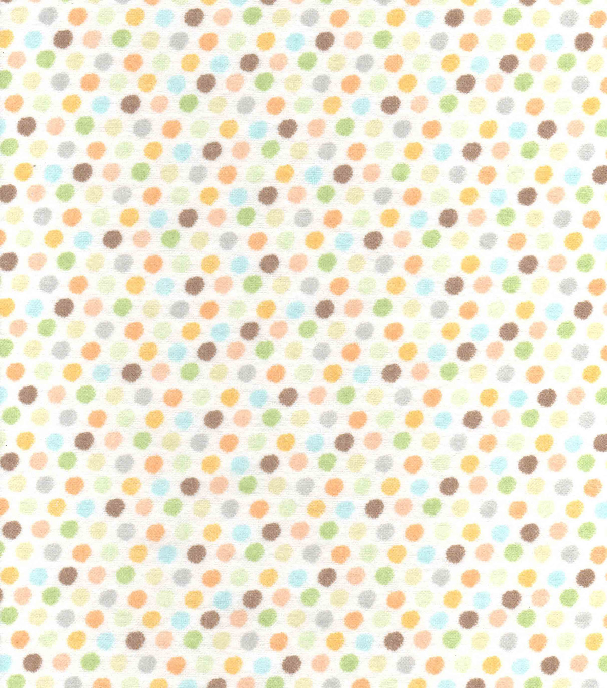 Nursery Flannel Fabric 42\u0022-Safari Small Dot
