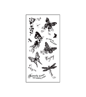 Fiskars Clear Stamps - Butterfly Magic (4x8)