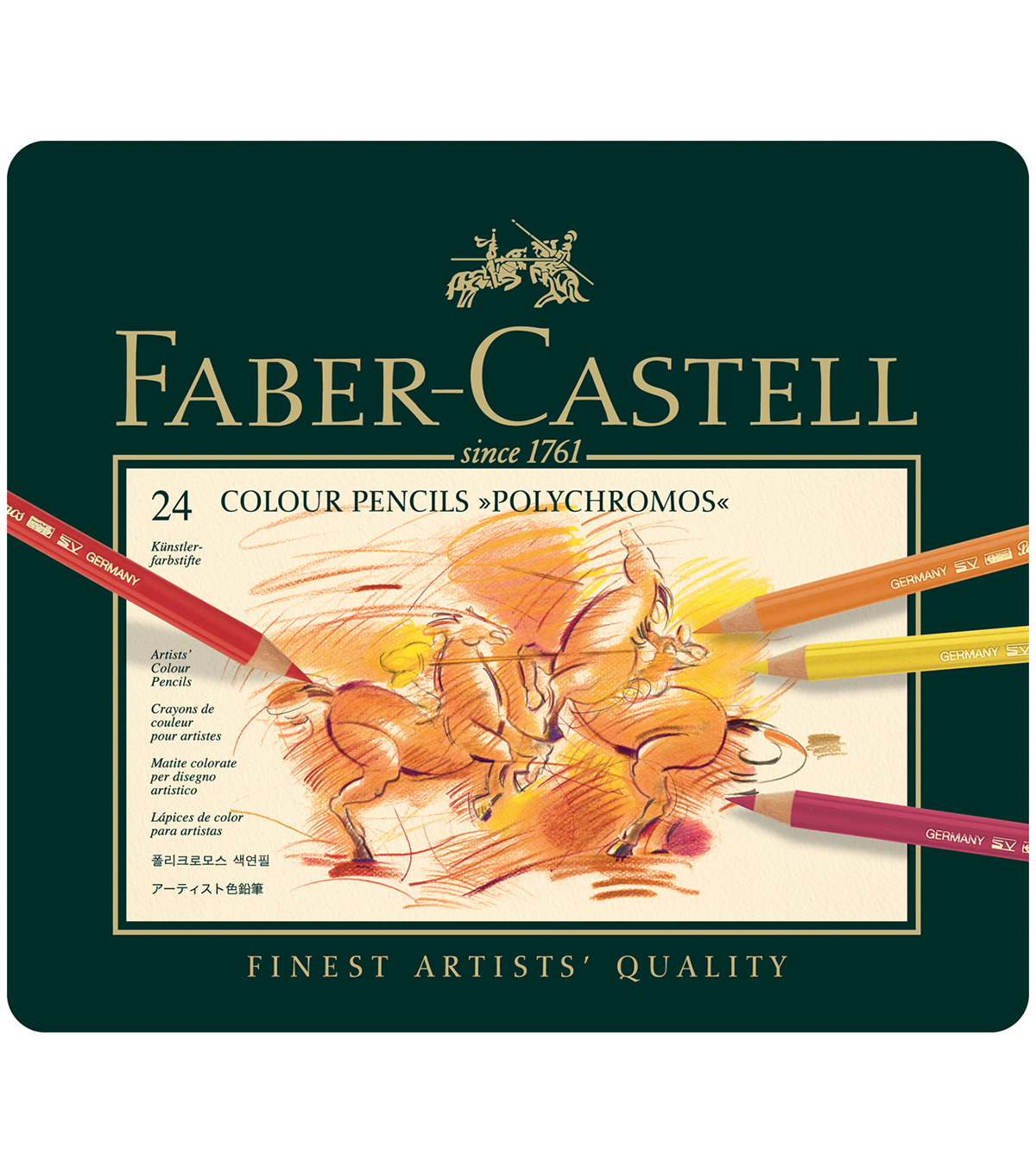 Faber-Castell® Polychromos Colored Pencil Set In Metal Tin