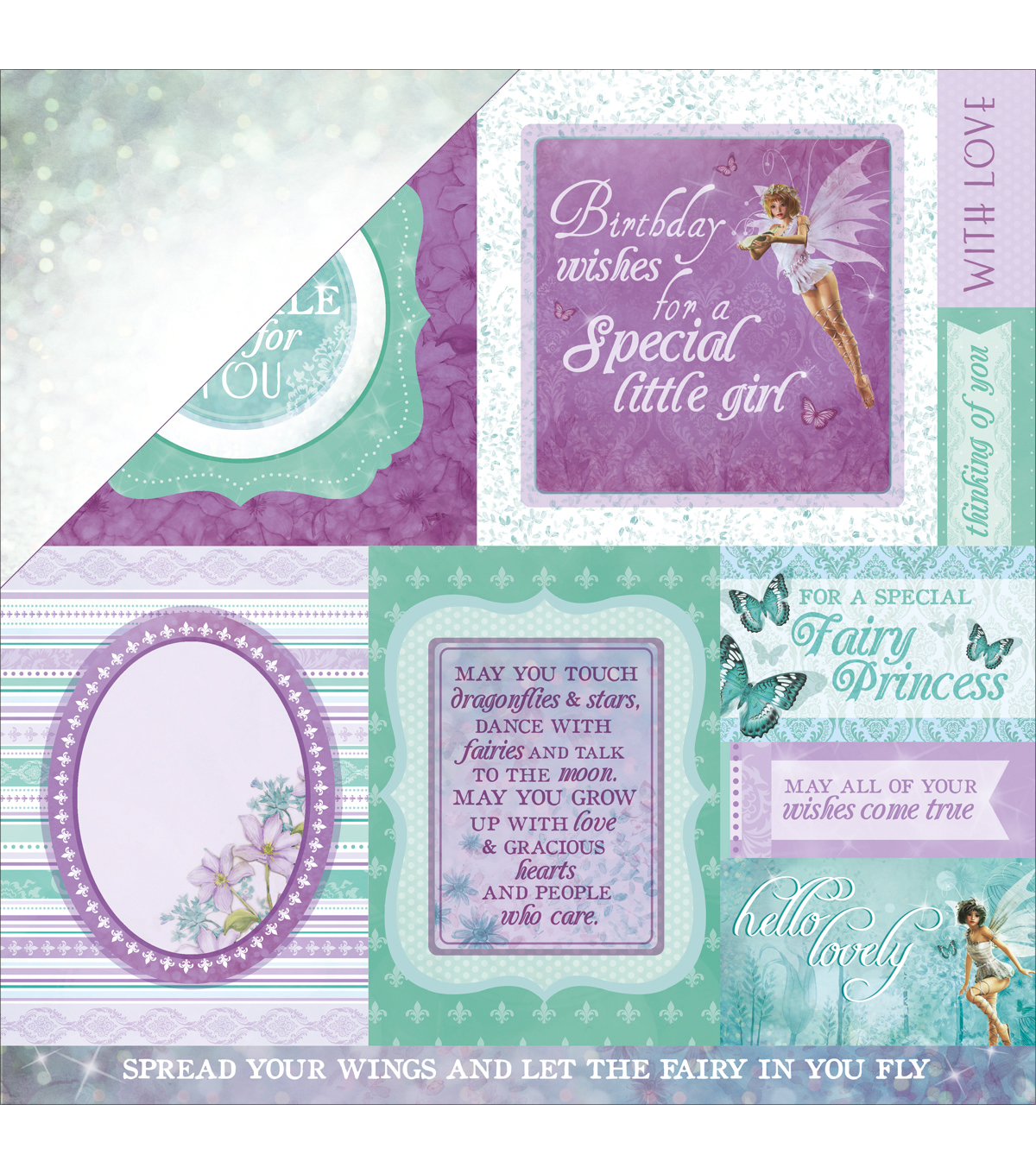Kaisercraft Fairy Dust Double-Sided Cardstock-Star Dust