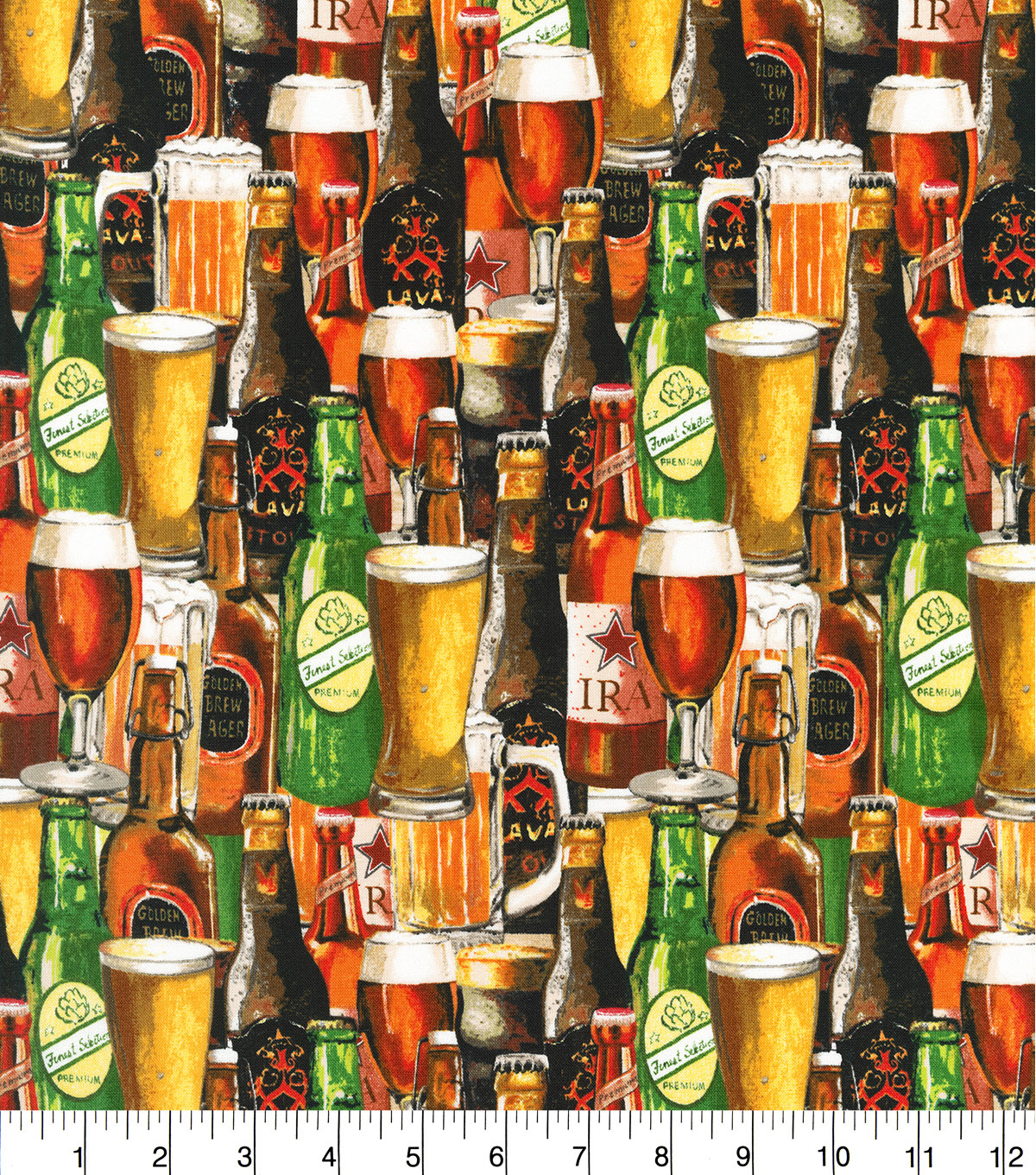Novelty Cotton Fabric 44''-Crafted Brews Packed