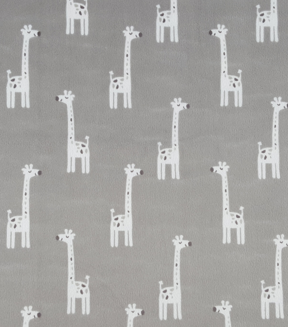 Soft N Comfy Fabric 57\u0022-Gray Giraffes