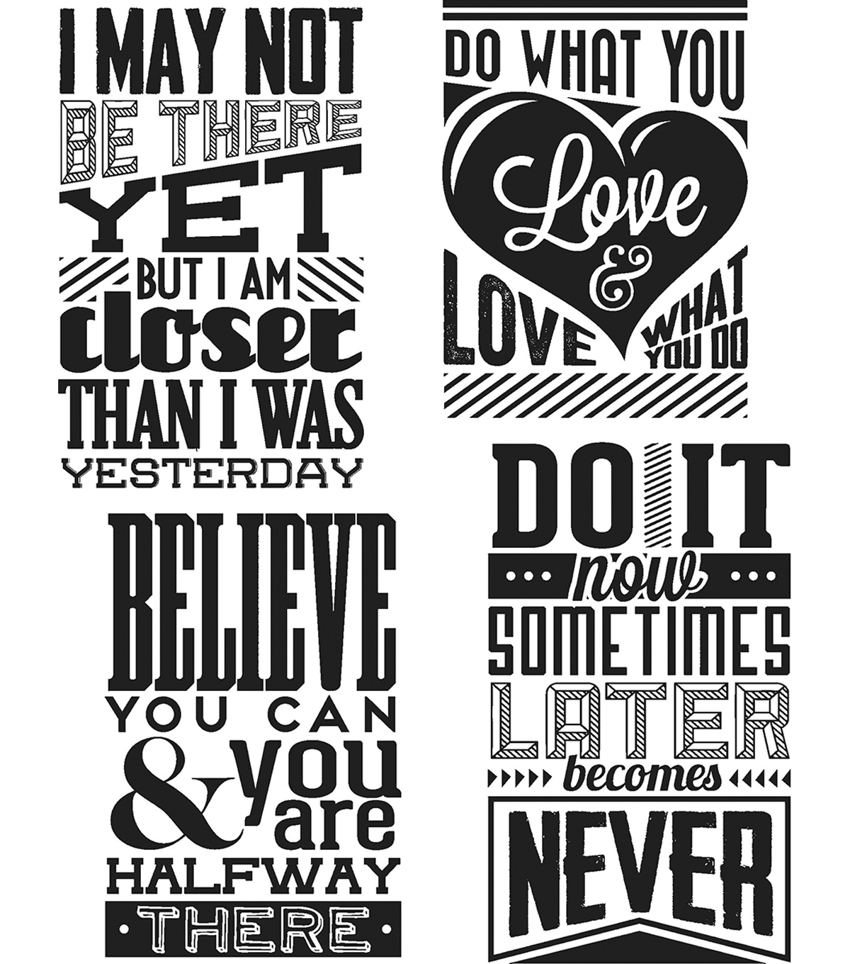 Tim Holtz Cling Stamps 7\u0022X8.5\u0022-Motivation 3