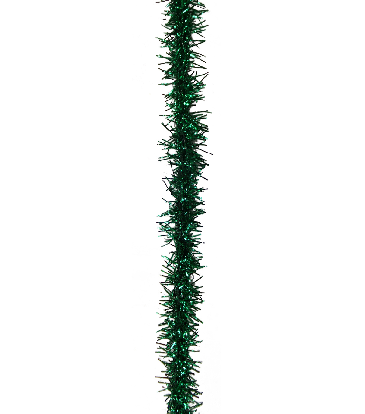 Maker\u0027s Holiday Christmas Tinsel Ribbon 3/8\u0027\u0027x9\u0027-Green